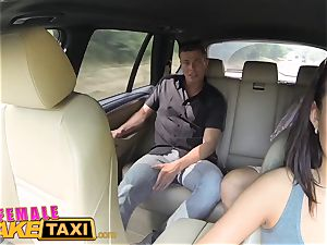 chick faux taxi expert slit slurping orgasms
