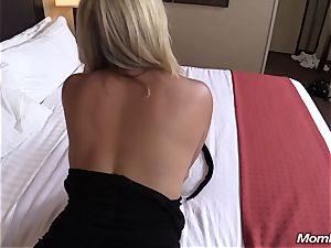 red-hot blond mummy creampie pleasure