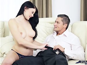 Lucy Ly has her rosy fuck hole plumbed