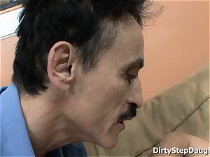 Stepdaughter Kristina Rose Caught dad observing porno