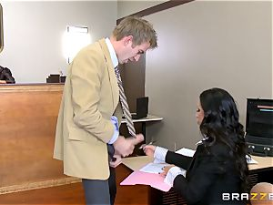 hot lawyer Nikki Benz getting humped by a fat fuckpole