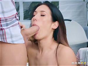 lewd farmer's wifey Eva Lovia gets her delicious poon fucked at a public honest