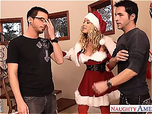 fabulous Nicole Aniston wants to make both their cocks perceive supreme for Christmas