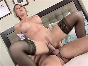 red-hot maid Capri Cavanni gives her chief some extras