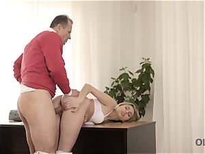 OLD4K. Good-looking nubile wasn t against fuck-a-thon with marvelous elder daddy