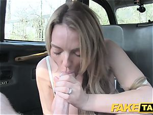fake cab handsome Welsh milf with hot assets