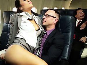 Asa Akira and her hostess mates nail on flight