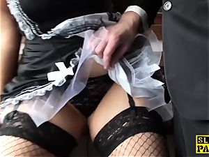 plump brit maid Lucy pussyfucked