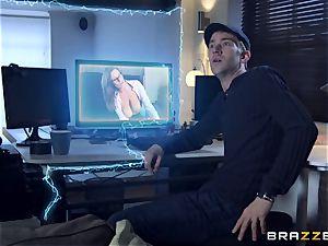 Danny D gets warped into a pornography of Brazzers - sensual Jane and Ella Hughes