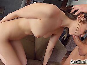 Angelic cutie does some ultra-kinky donk to mouth