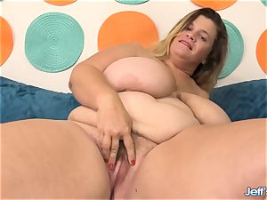giant titted plus-size Hayley Jane takes chisel