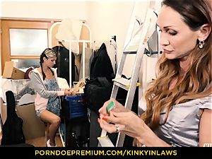 ultra-kinky INLAWS - Gina Gerson pummeled by mummy with wand