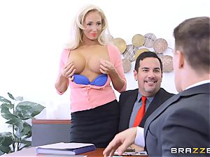 hung guy Bruce plunges his rock-hard fat man-meat into Olivia Fox